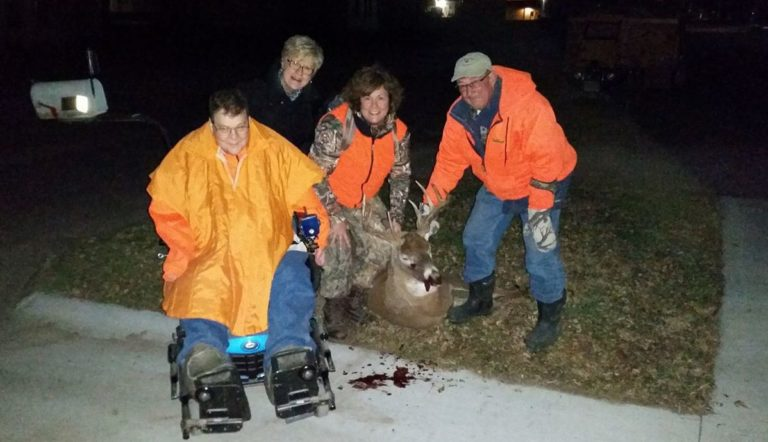 Tonya with Family during Hunting Season